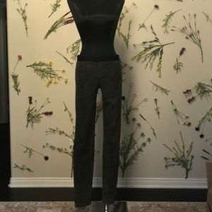 Theory Sueded Leather Leggings